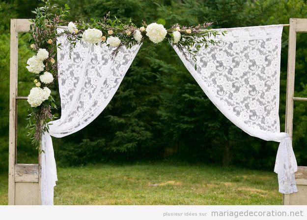 Autel DIY et pas cher pour décorer un mariage au jaridn