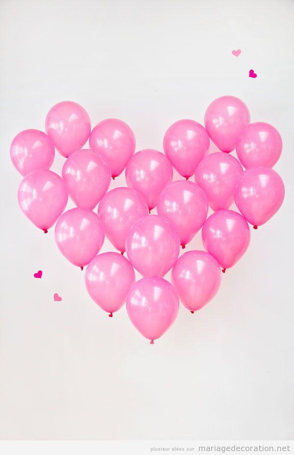 Idée décoration mariage ballon forme coeur
