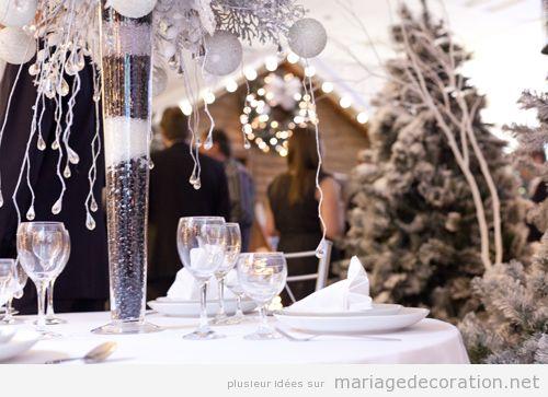 Idées pour décorer una salle de mariage en hiver