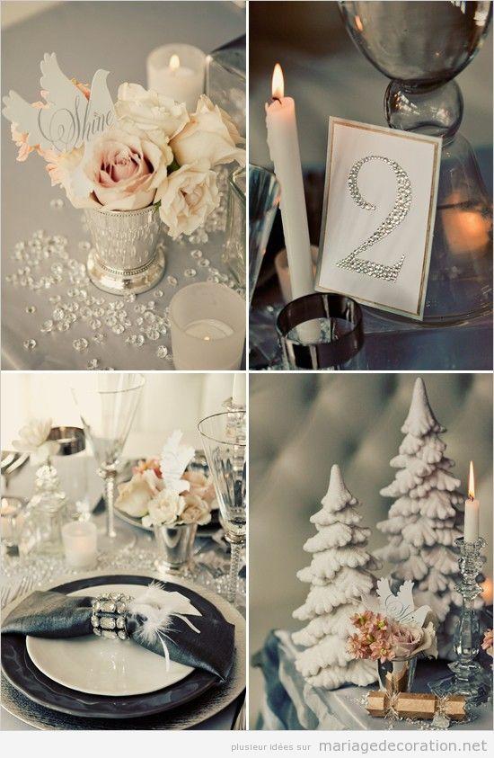 Déco table mariage vintage hiber