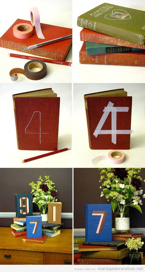 Centre table mariage DIY réalisé avec des livres