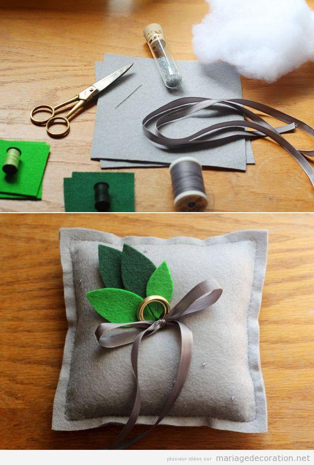 Coussin DIY porter anneaux mariage