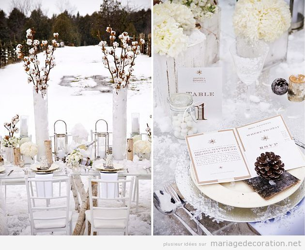decoration mariage hivernal