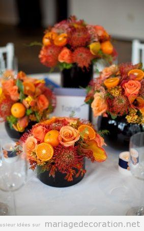 Idées centre table mariage, fleurs automne 2