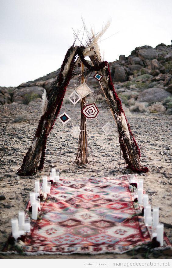 Idées décoration mariage style hippie et boho