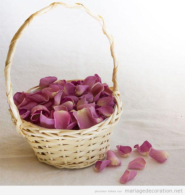 Idées décorer mariage avec des vanneries d'osier