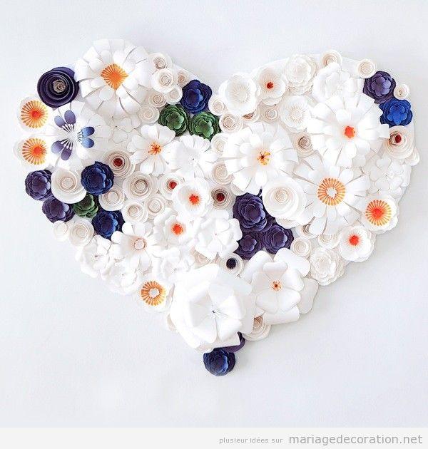 Couronne fleurs en papier pour décorer mariage 2