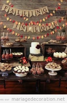 Candy bar mariage automne 3