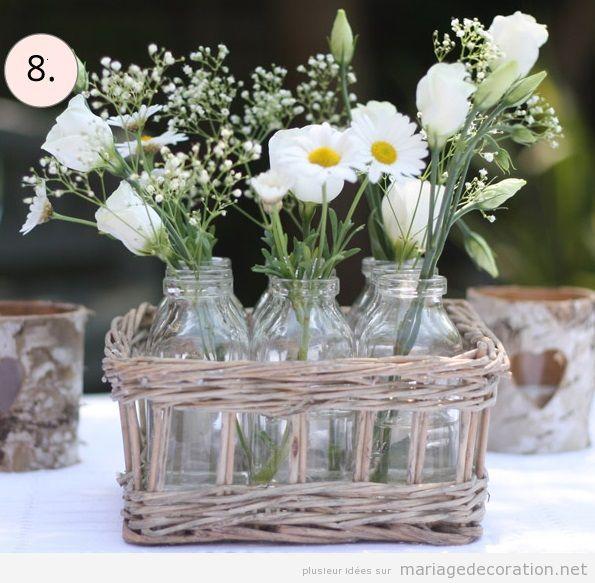 Idées décorer mariage avec des vanneries d'osier 3