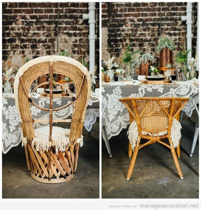 Idées décorer mariage avec des vanneries d'osier 2