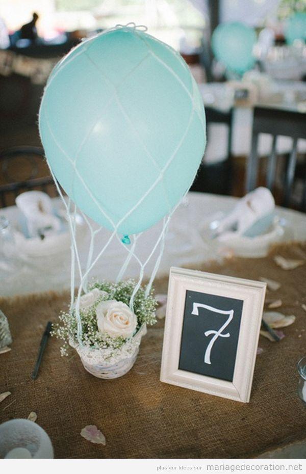 Idées décorer table mariage avec des ballons de hélium piscine 2