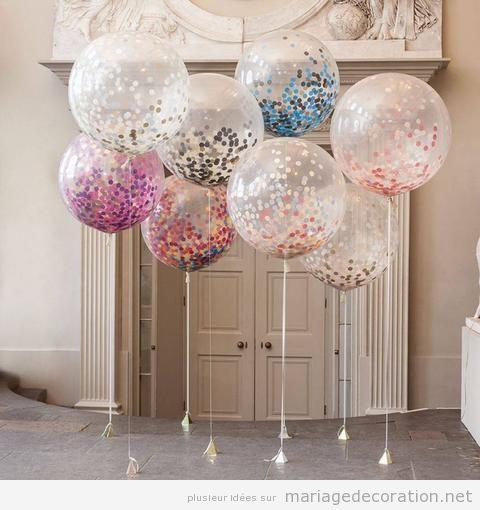 Idées décorer salle mariage avec des ballons de hélium 2