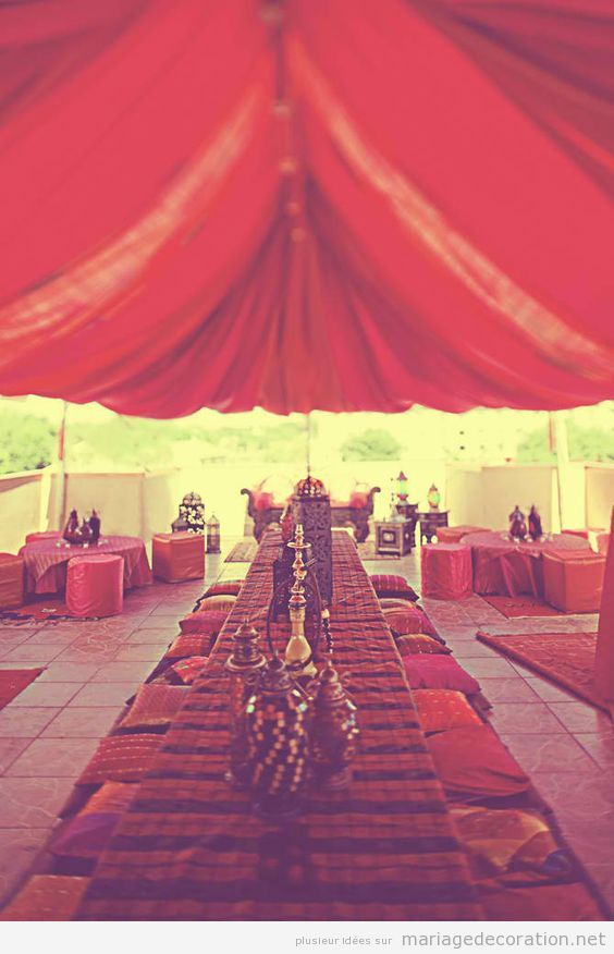 Décoration de mariage style arabe 2