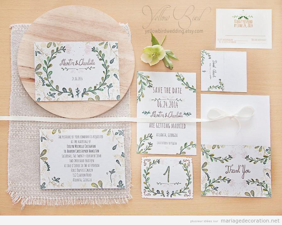 Invitation mariage écrite à la main, calligraphie jolie 2