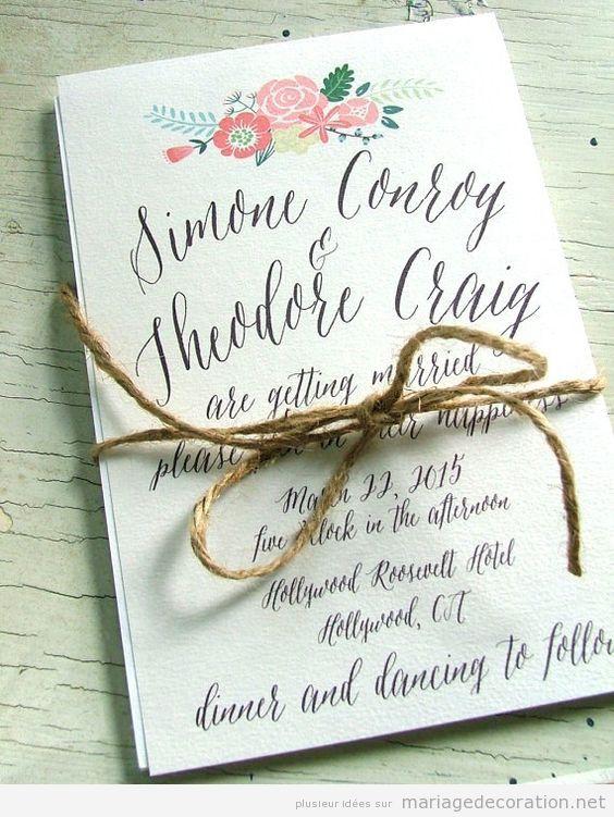 Invitation mariage écrite à la main, calligraphie jolie 7