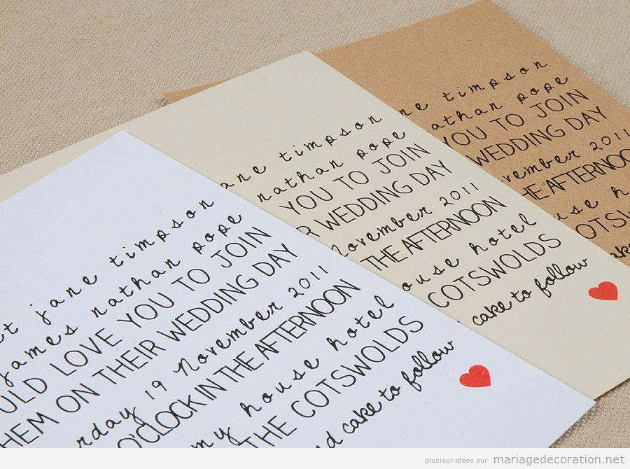 Invitation mariage écrite à la main, calligraphie jolie 6