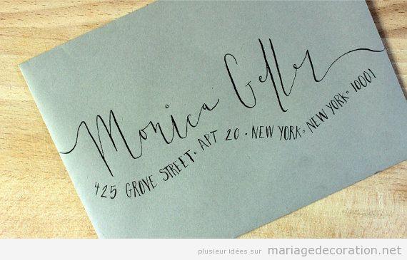 Invitation mariage écrite à la main, calligraphie jolie 5