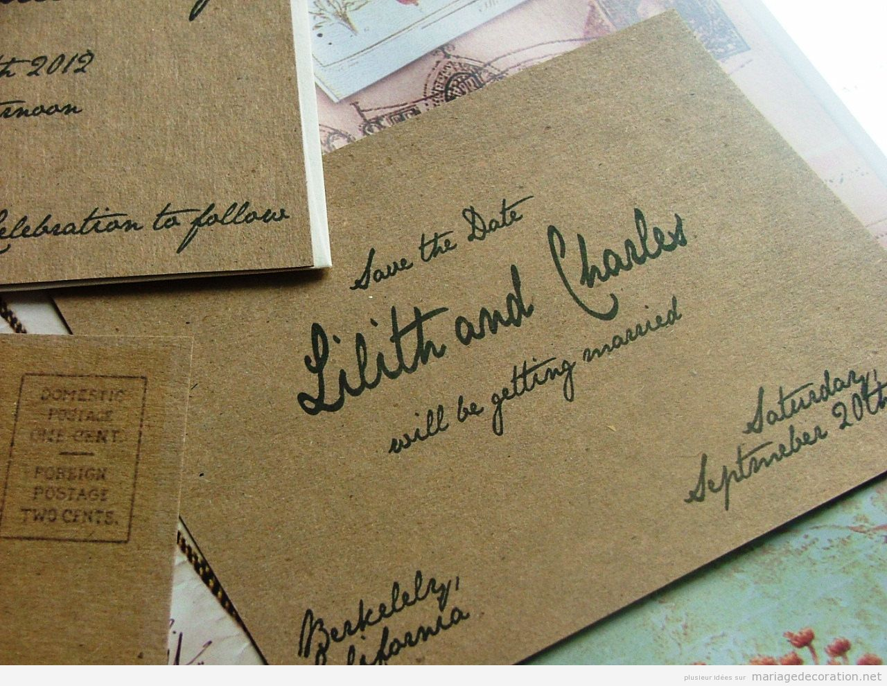 Invitation mariage écrite à la main, calligraphie jolie 3