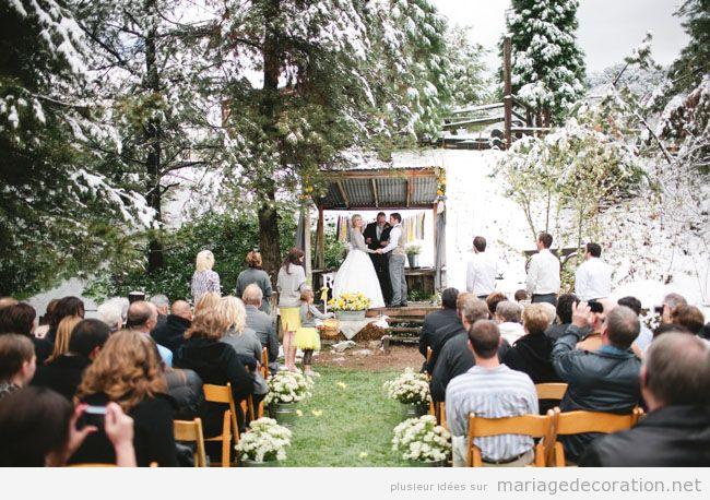 Idées célebrer et décorer céremonie de mariage sur la neige 3