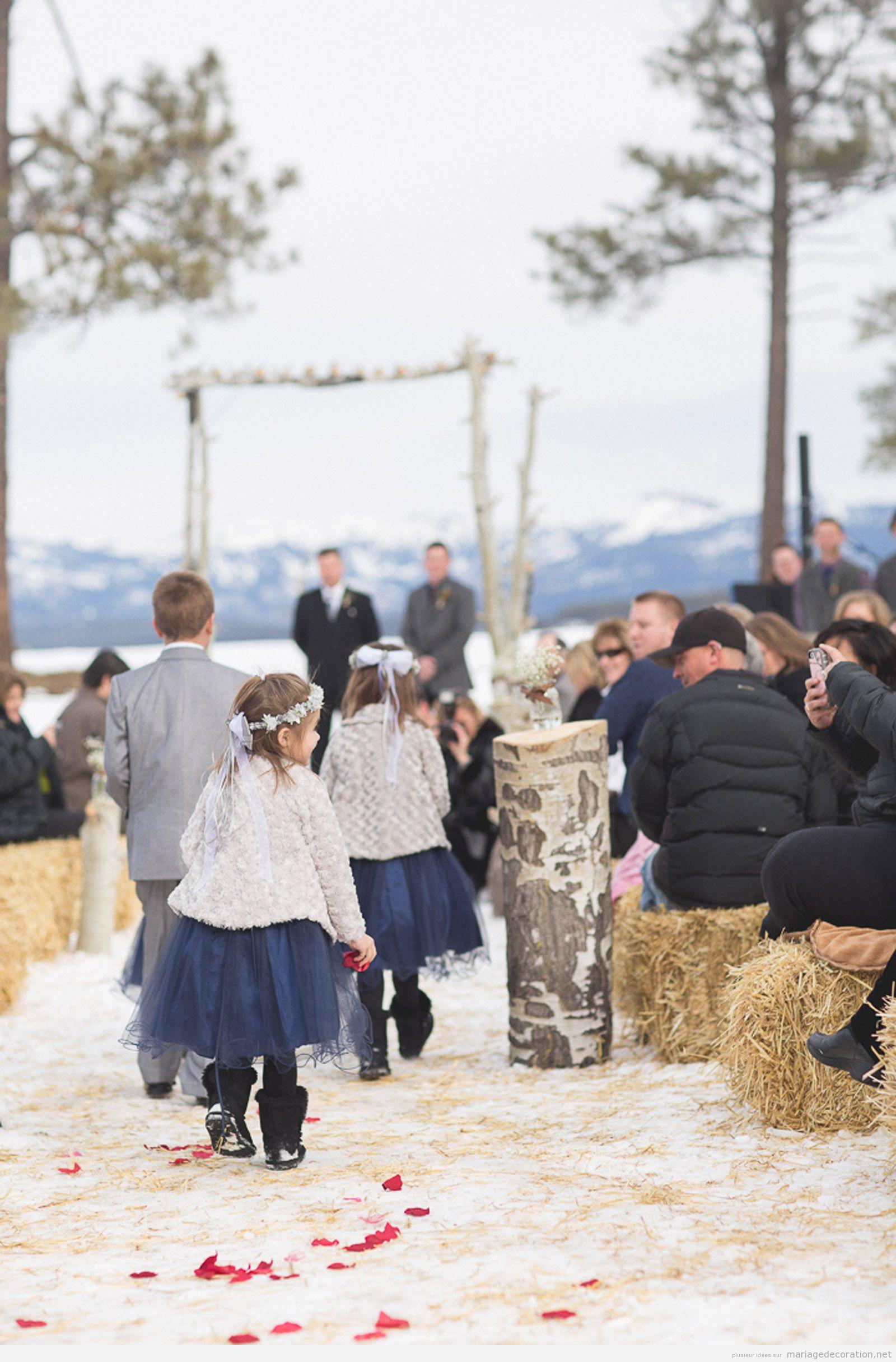 Idées célebrer et décorer céremonie de mariage sur la neige 7