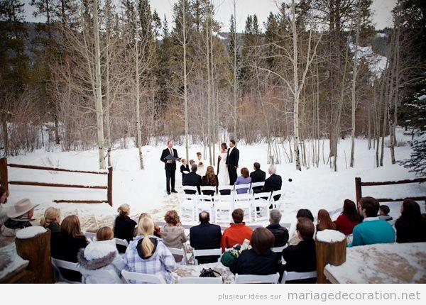 Idées célebrer et décorer céremonie de mariage sur la neige 4