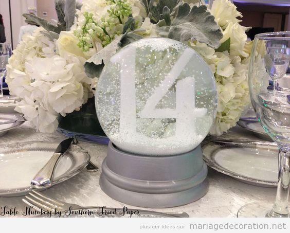 Idées décoration de table de mariage en hiver 5