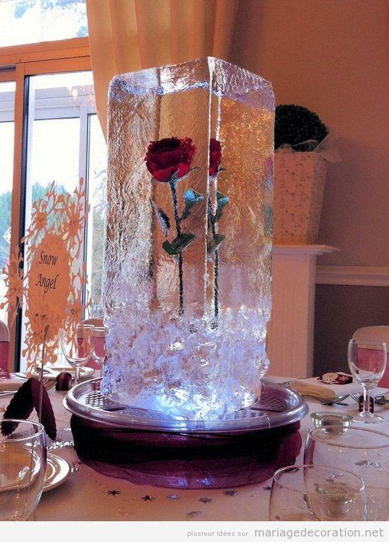Idées décoration de table de mariage en hiver 4