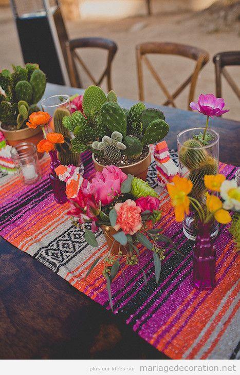 Décoration mariage mexicain, centre de table 4
