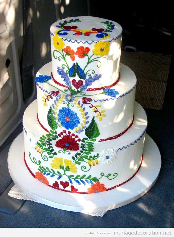 Décoration mariage mexicain, gâteau