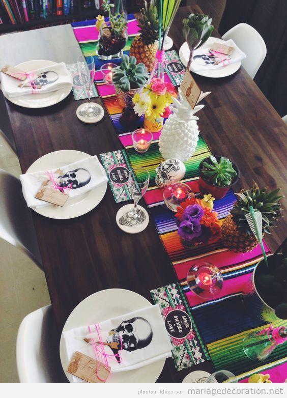 Décoration mariage mexicain, centre de table 3