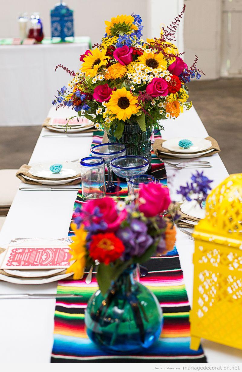 Décoration mariage mexicain, centre de table 2