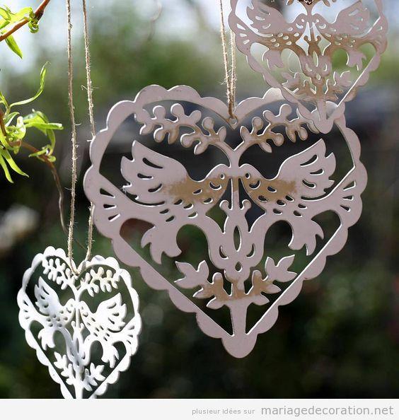 Décoration table mariage thématique oiseaux 2