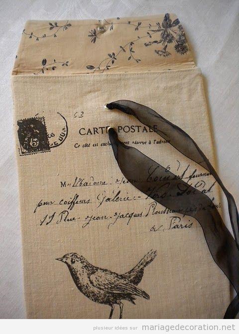 Invitation mariage thématique oiseaux