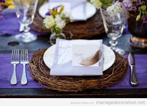 Décoration table mariage thématique oiseaux 4