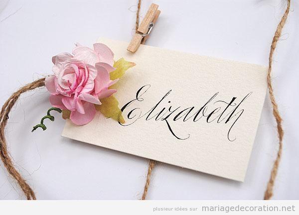 Panneaux messages invités mariage calligraphie jolie 5