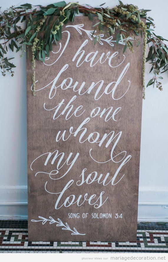 Panneaux vers mariage calligraphie jolie