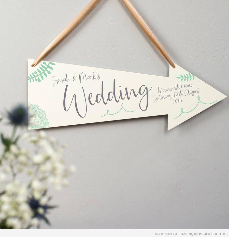 Panneaux messages invités mariage calligraphie jolie 3