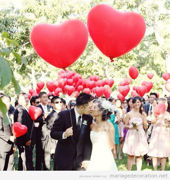 Décoration mariage avec coeurs pour le Saint Valentin