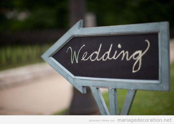 Déco mariage, messages éctrits en craie sur panneau d'ardoise 3