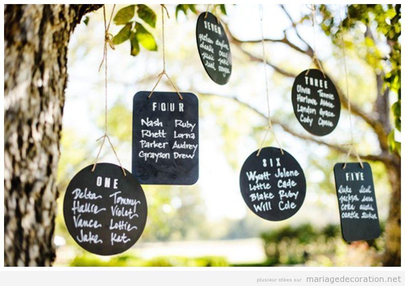 Déco mariage, messages écrits en craie sur panneau d'ardoise 4