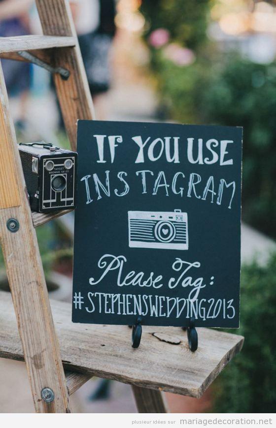 Déco mariage, messages écrits en craie sur panneau d'ardoise 8