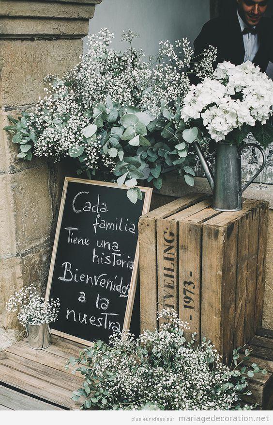 Déco mariage, messages écrits en craie sur panneau d'ardoise 9