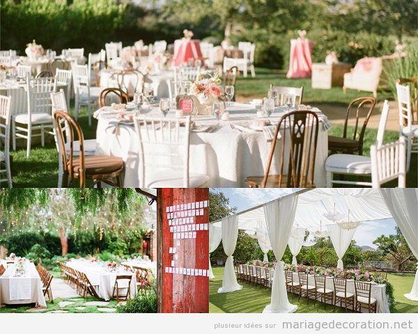 Décoration banquet mariage vintage en plein air 2