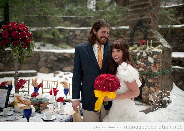 Mariage inspiration de La Belle et la Bête