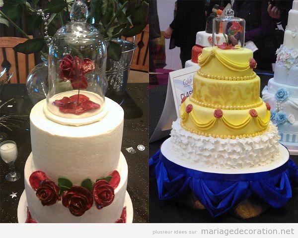 Mariage inspirationLa Belle et la Bête, gateaux