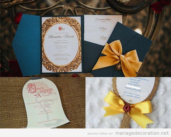 Mariage inspirationLa Belle et la Bête, invitations