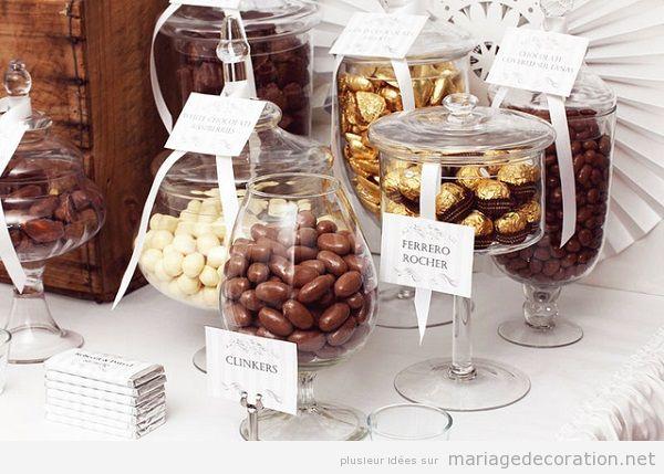 Décoration mariage avec chocolate 6