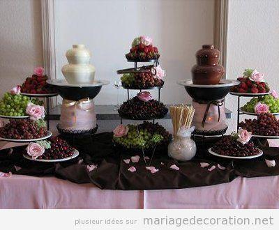 Décoration mariage avec chocolate 8