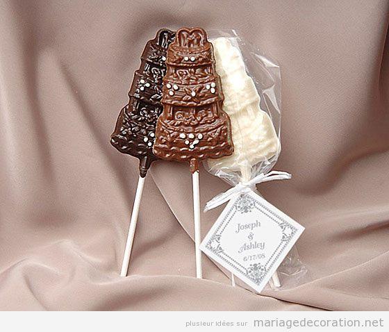 Décoration mariage avec chocolatev 2