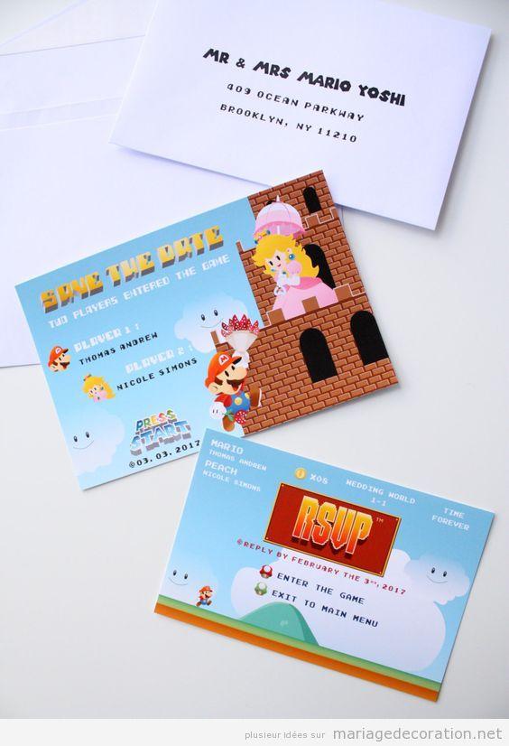 Invitation mariage geek